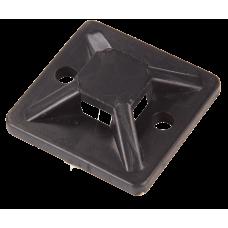 Kabelbinder-Sockel viereckig schwarz